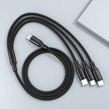 3в1 кабель Usb C Type C к Type C Micro Usb 8Pin кабель Pd Usb C зарядное устройство Быстрая зарядка Usbc для телефона планшета Tipo C 3 в 1 шнур