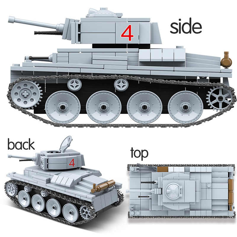 Military Vehicles Tank Panzer WW2 Soldiers Figures Building Blocks Compatible Legoings Army Weapon Technic Bricks Children Toys