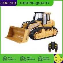 1/16 rc caminhão bulldozer dumper caterpillar trator modelo de engenharia carro iluminação escavadeira rádio carro controlado brinquedos para meninos