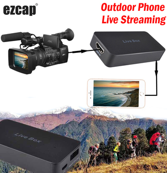 Smart Phone Live Box HD Live Streaming Game Recording Video Capture Card for IPhone IOS Android HDMI PS4 XBOX TV Box DSLR Camera 1