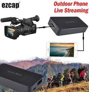 Смарт-телефон Live Box HD, потоковая игра, запись видео, карта захвата для IPhone, IOS, Android, HDMI, PS4, XBOX, ТВ-приставка, DSLR камера