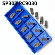 20PCS SP300 PC9030 blade carbide slotting tool holder lathe turning and