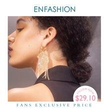 Enfashion кристалл Длинная кисточка Висячие серьги для женщин
