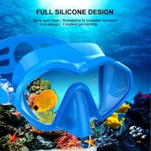 New Diving Mask High Quality Diving Equipment Silica gel Underwater Anti Fog Snorkeling Diving Mask For Spearfishing Dive Men(China)