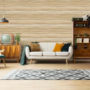 Image 1 - 45 センチメートル * 6 メートルヴィンテージフェイク木材の壁紙ビニール自己接着壁紙 3d リビングルームのためのデスク壁の装飾