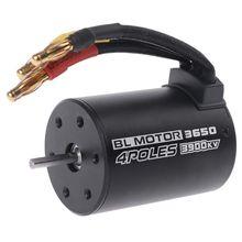 цена на 3650 3900KV Waterproof Brushless Electric Motor Sensorless for 1/8 1/10 RC  Car Part 94123 Truck Crawler R7RB