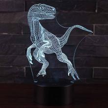 3D Dinosaur LED Night Light Lamp Colorful 3D Night Light Decorative Table Lamps Toys Gift For Kids Home Decoration Ornament mini cartoon led night lights lamps cute pat fish cat light table lampe colorful led night lamp gift