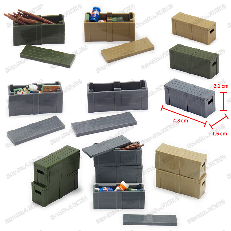 Military Weapons Treatment Box Building Blocks Ww2 City Airdrop Army Figures Assembly Moc Child Christmas Birthday Gift Toys