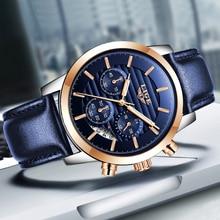 2019 LIGE Watches Mens Quartz Watch Casual Fashion Watch Belt Sport Men Watch Bu