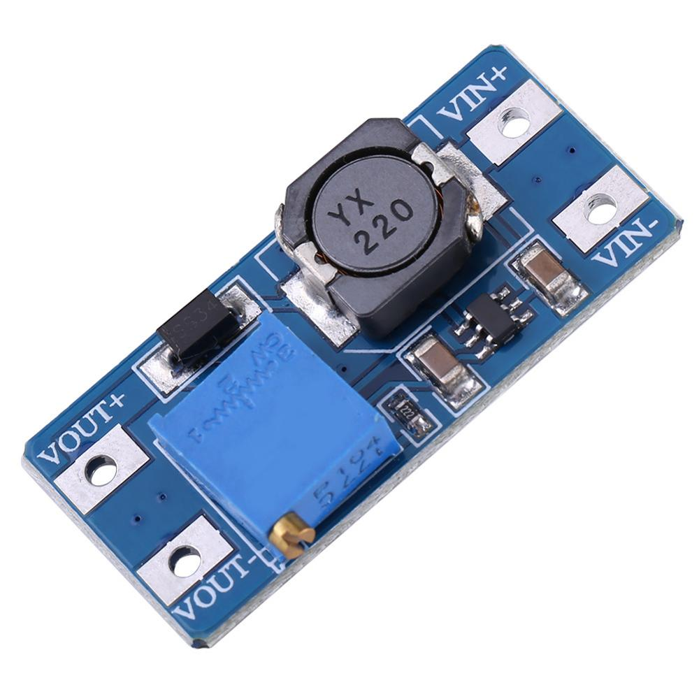 MT3608 DC-DC Voltage Step Up Adjustable Boost Converter Power Supply Module 2A 2V~24V DC To Maximum 28V DC Power Step-up Module