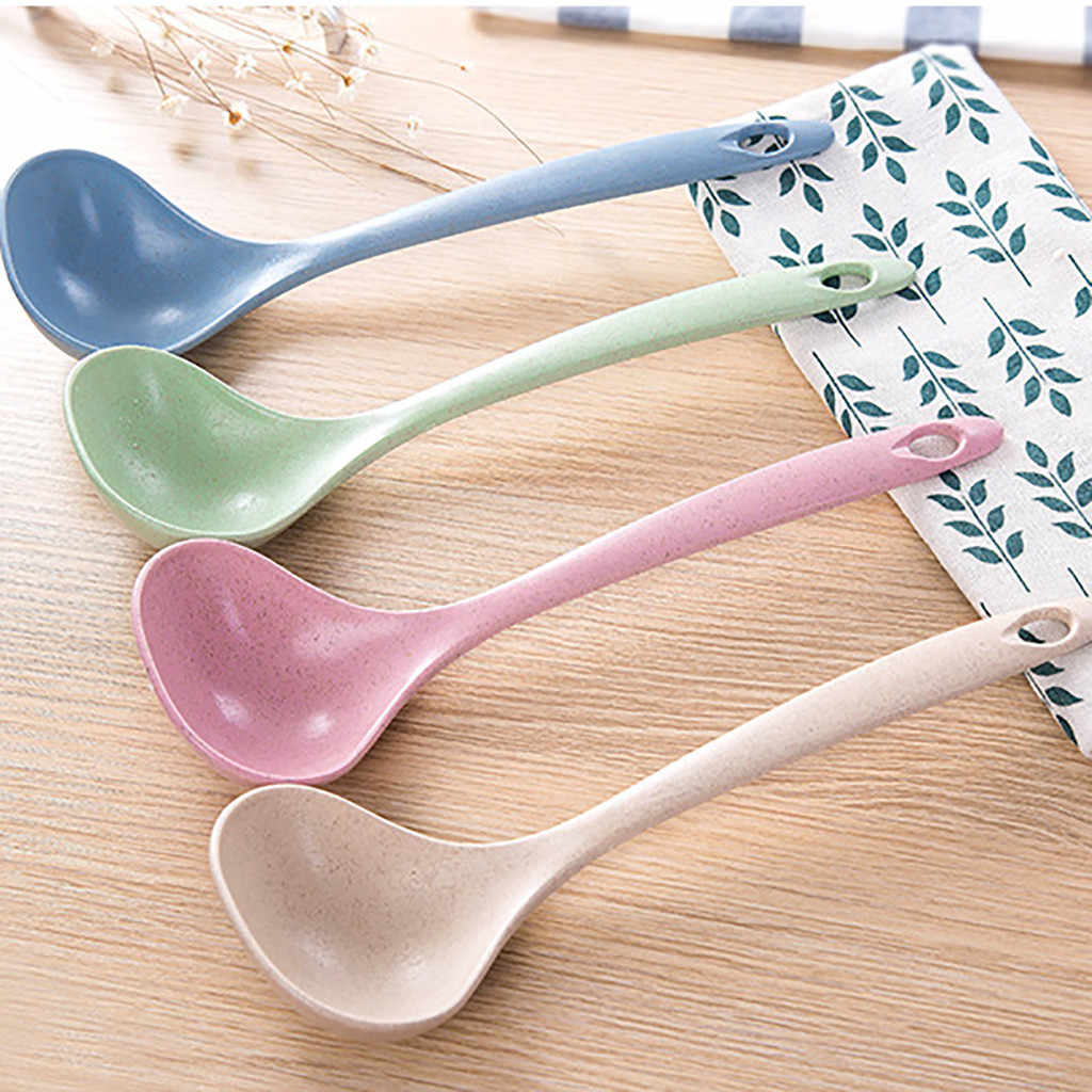 Eco-Friendly Wheat Straw Soup Spoon Spoon Rice Ladle Meal Dinner Scoop 1PCS
