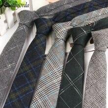 6CM High-grade Wool Narrow Tie Male Work Casual Wedding Groom Neckties Neckwear Formal Neckcloth Men Gifts Corbatas