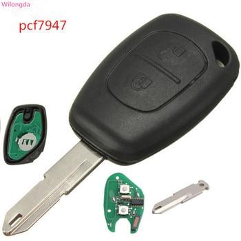 Wilongda Auto Remote Car Key 2 button 433MHz pcf7947 car accessories for Renault Clio Kangoo Logan Sandero Duster Master Key