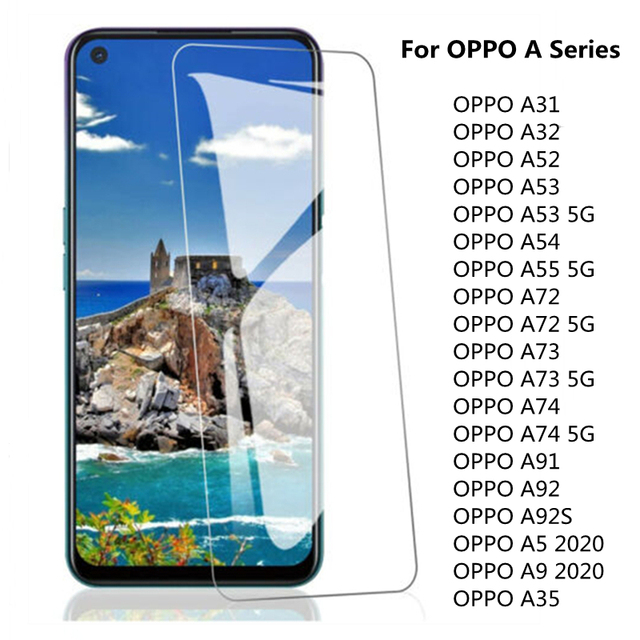 3Pcs Tempered Glass for OPPO A91 A72 A73 5G A92 A5 A9 2020 Screen Protector  for OPPO A53 A52 A54 A55 A32 A31 A74 Glass 1