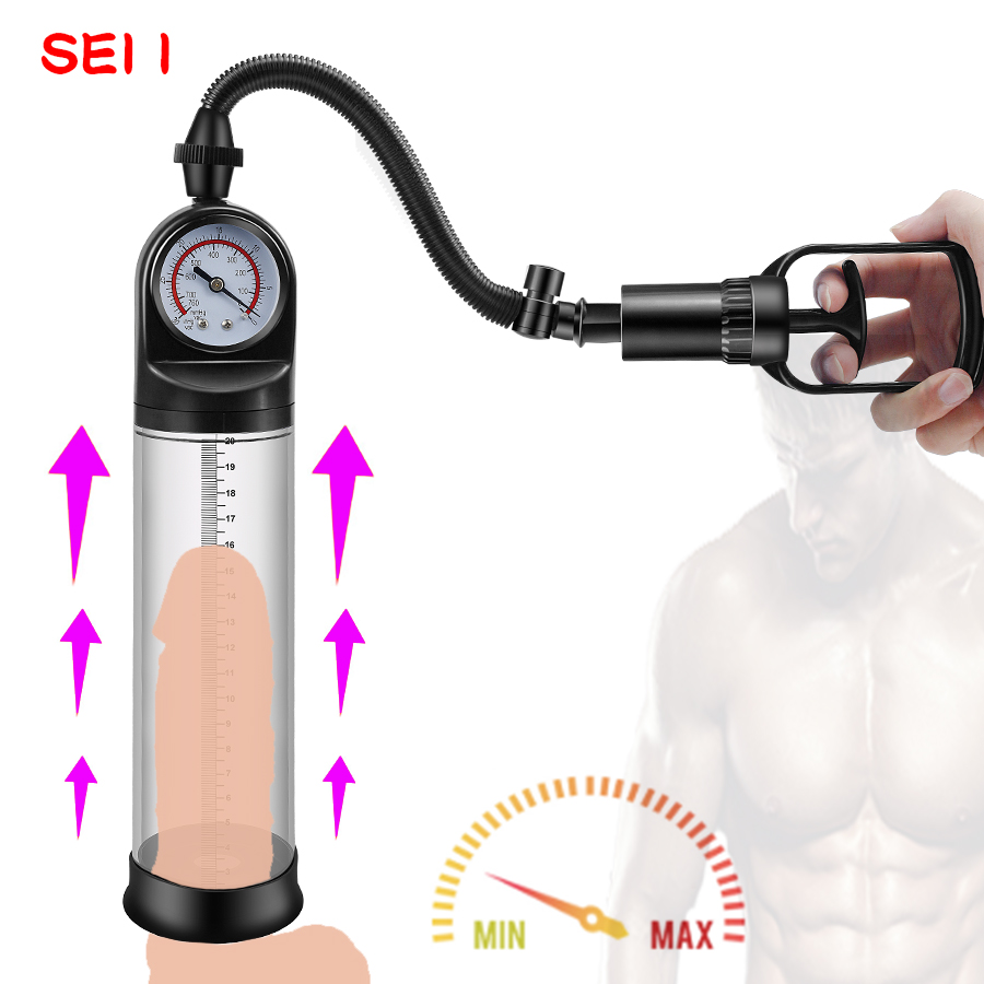 <font><b>Penis</b></font> Enlarger <font><b>Pump</b></font> Device With Manometer Manual <font><b>Penis</b></font> Enlargement Vacuum <font><b>Pump</b></font> Delayed Ejaculation Device <font><b>Adult</b></font> <font><b>Sex</b></font> <font><b>Toy</b></font> for Male image