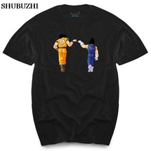 Dragon ball z shirt dbz dragonball z t-shirt heren dames jongens goku vegeta saiyan mannen top tees(China)