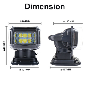Image 5 - 7 Inch 50W Led Remote Control Light Wireless Magnets Search Light Camp Hunting Fishing Boat Marine 4x4 Offroad Work Lamps 1Pcs