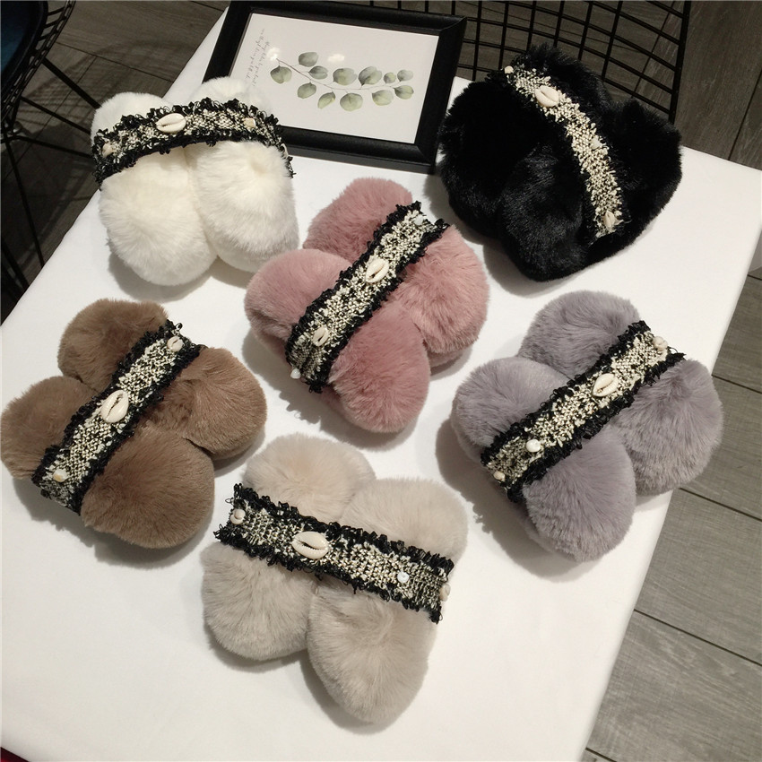 New Warm Earmuffs Star Plush Fur Ear Winter Muff Ear Cover For Women Children Solid Color Cute Ear Warmer Soft Ears Covering