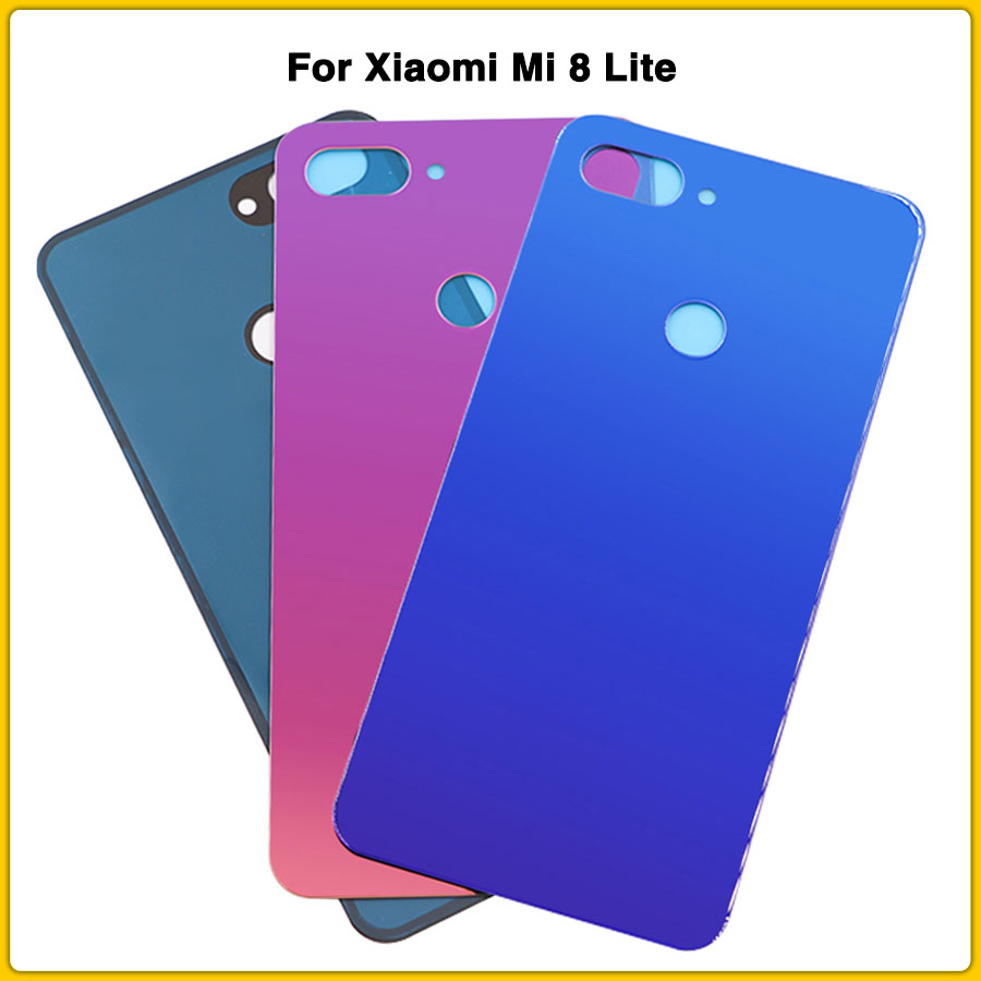 New Mi8 Lite Housing Case For <font><b>Xiaomi</b></font> <font><b>Mi</b></font> <font><b>8</b></font> Lite <font><b>xiaomi</b></font> <font><b>8</b></font> <font><b>Battery</b></font> <font><b>Cover</b></font> Door Rear Back <font><b>Cover</b></font> Panel With Sticker image