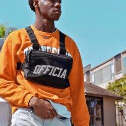 Functionele Tactische Borst Tassen Unisex Hip-Hop Borst Vest Pack Streetwear Tas Kanye Brief Borst Rig Zakken Mannelijke Ipad taille Packs