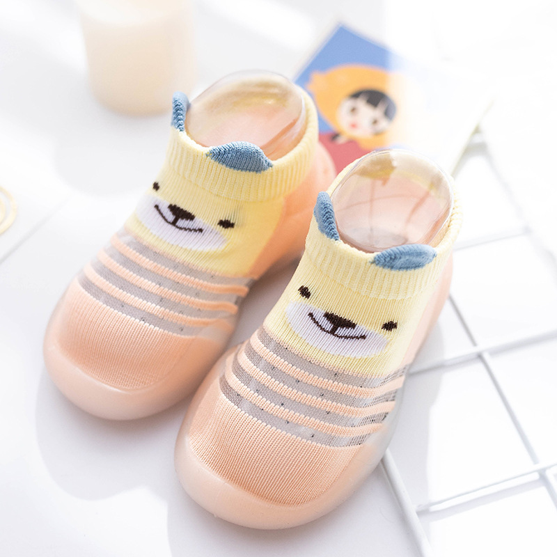 Children Anti-slip Shoes Newborn Baby Girl Cotton Non-slip Floor Socks Baby Boy Rubber Sole Cartoon Indoor Socks Infant Shoes 4