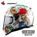 Мотоциклетный шлем NENKI  мужской Полнолицевой шлем  мотоциклетный шлем из АБС-пластика  мотоциклетный шлем  сертификат #