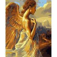 Diy картина по номерам комплект изображением ангела Применение