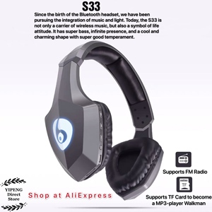 Image 2 - OVLENG S33 Over Ear Bass cuffie Stereo Bluetooth cuffie Wireless supporto Micro SD/TF Card Radio FM microfono e LED