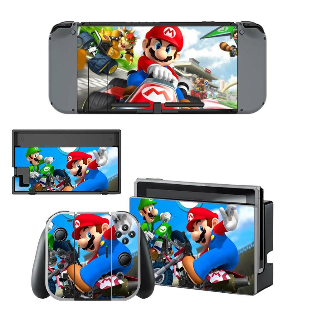 Mario Kart Nintendoswitch Skin Nintend Switch Stickers Decal For Nintendo Switch Console Joy-con Controller Dock Skins Vinyl
