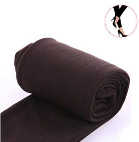 2020 Autumn winter woman thick warm leggings candy color brushed charcoal Stretch Fleece Pants Trample Feet Leggings 17