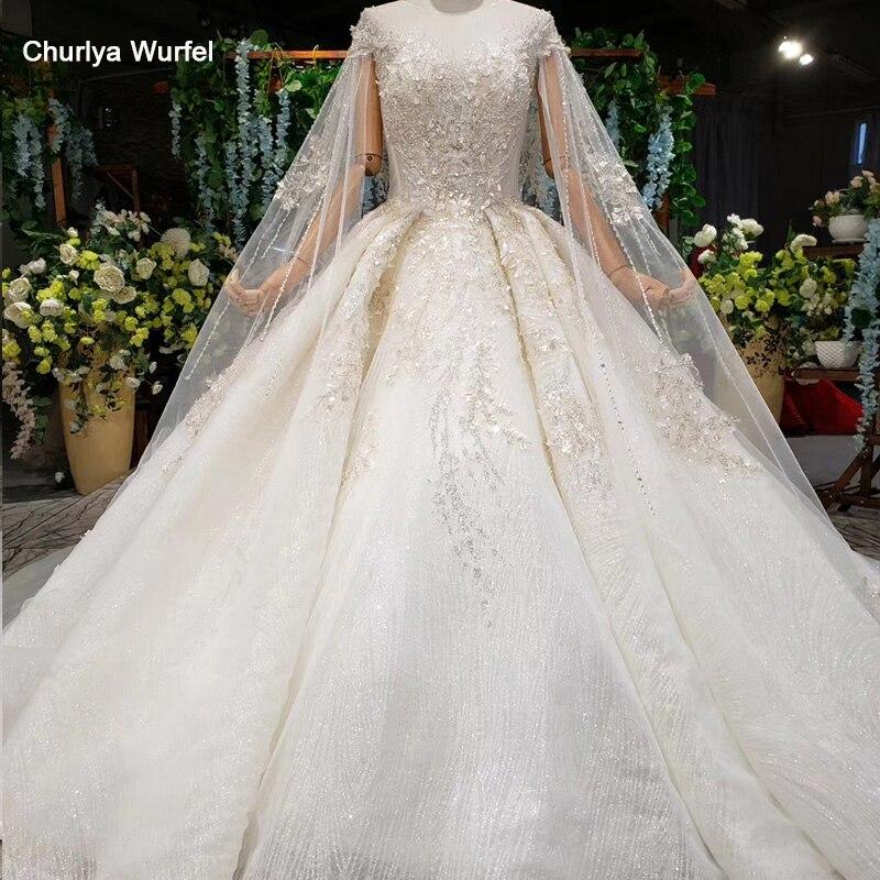 HTL1001 Cap Heart Sequin Elegant Wedding Dress Pearl Bead Lace Up Wedding Dress Plus Size Applique Rhinestone Vestido De Noiva