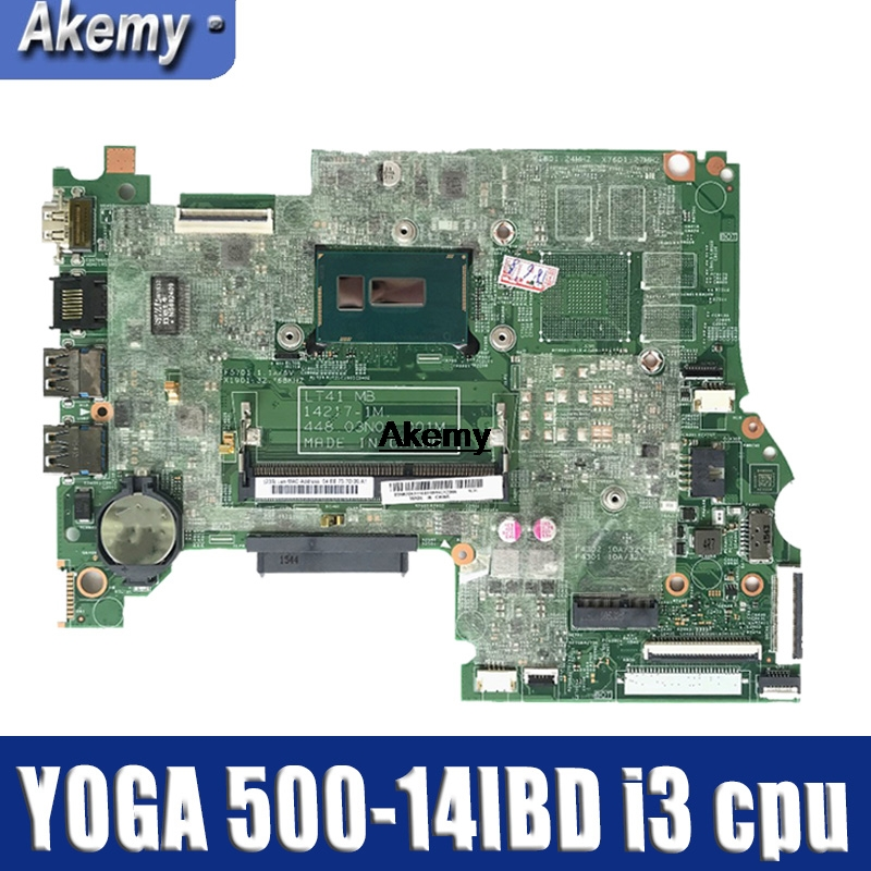 For Lenovo YOGA 500 -14IBD FLEX3-1470 YOGA500-14IBD Laptop Motherboard 448.03N03.001M CPU I3 DDR3 100% Test OK