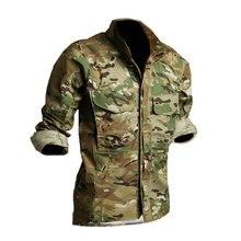 Мужские военные камуфляжные рубашки охотничья куртка армейская тактическая одежда Мультикам мужские камуфляжные ветровки