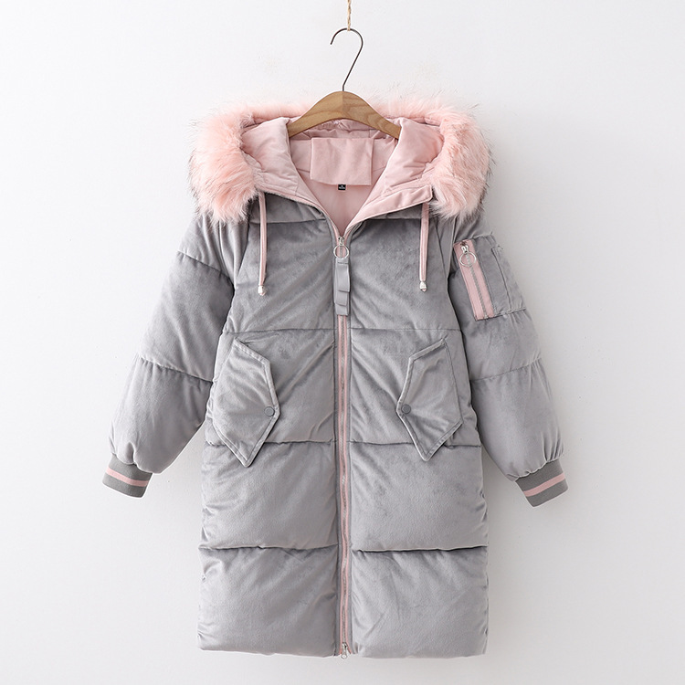 2018 Winter New Style Warm Bread Cotton Coat Korean-style Mid-length Thickening Large Fur Collar Hooded Cotton-padded Clothes 90