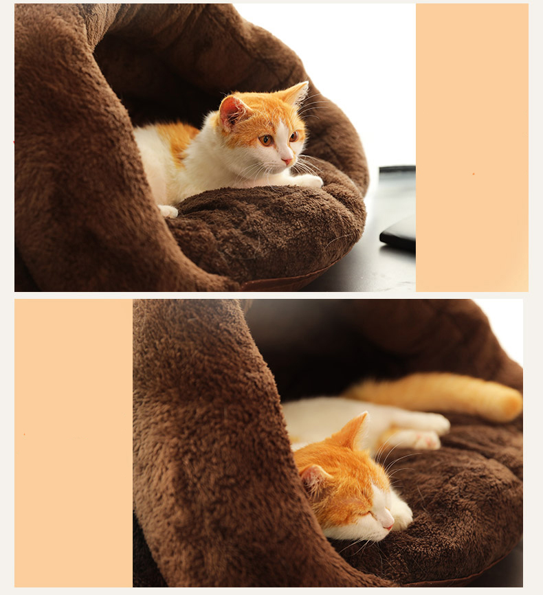 Triangle Pet bed for Small Cats Dogs Soft Nest Kennel Bed Cave House Sleeping Bag Mat Pad Tent Pets Winter Warm Cozy Beds Supply 6
