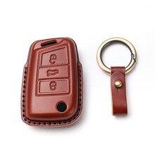 Obudowa kluczyka do samochodu pokrywa dla volkswagena VW Golf 7 gti mk7 r Touran Skoda Octavia 3 Superb Karoq Kodiaq Seat Leon mk3 akcesoria Ateca