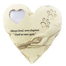 Новая мемориальная надгробная плита для Подвеска-кость из нержавеющей стали надгробная собака кошка отпечаток лапы животного похорон ноги формы может поставить фотографии