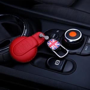 Image 2 - Deri anahtar kutusu araba anahtarlık kapak BMW MINI COOPER S JCW F54 F55 F56 F57 F60 CLUBMAN COUNTRYMAN araba styling aksesuarları
