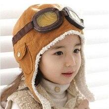 Sombrero bonito de aviador para niños, gafas de estilo suave, Algodón puro, cálido, a la moda e interesante, 2 colores, novedad, Otoño e Invierno