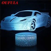 Ночники светодиодные автомобили 3d лампа милая игрушка подарок