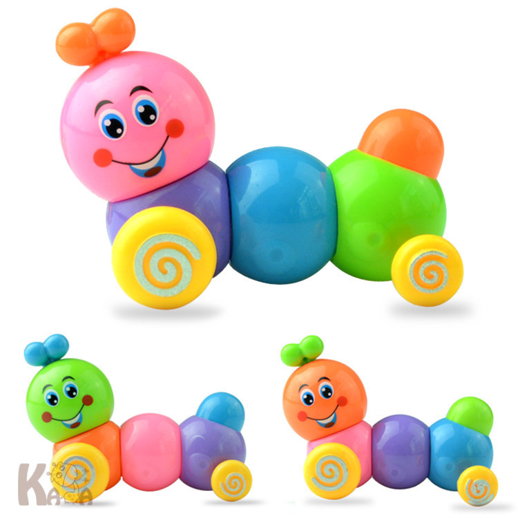T1189 Winding Contraction Caterpillar Spring Caterpillar Manufacturers Direct Selling Children'S Educational Wind-up Toy Wholesa