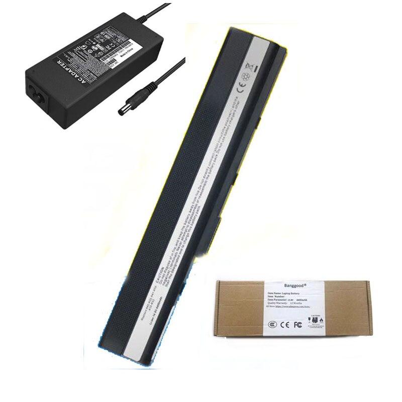 4400 мА/ч, A31-K52 A32-K52 A41-K52 A42-K52 ноутбук Батарея + 19V 4.74A AC Зарядное устройство для ASUS A52 A52J A52JB K42 K42F K42JB K52F K52JB