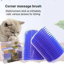 Corner-Brush Kitten-Massage Self-Groomer Scrubs-Face Cat-Product Tickle Cats with Comb