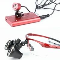2.5/3.5X Binocular Magnifier Medical Dental Surgical Loupes+3W LED Medical Headlight Headlamp