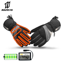 Motorcycle Gloves Battery Powered Winter Moto Electric Heated Gloves Waterproof Keep Warm Motorbike Racing Riding Heating Glove savior motorcycle heating gloves riding racing biking winter sports electric rechargeable battery heated warm gloves cycling