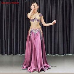 Новинка, 2 шт./компл., костюм для танца живота, женский костюм для танца живота, костюм для племени Болливуда, индийское платье, платье для тан...