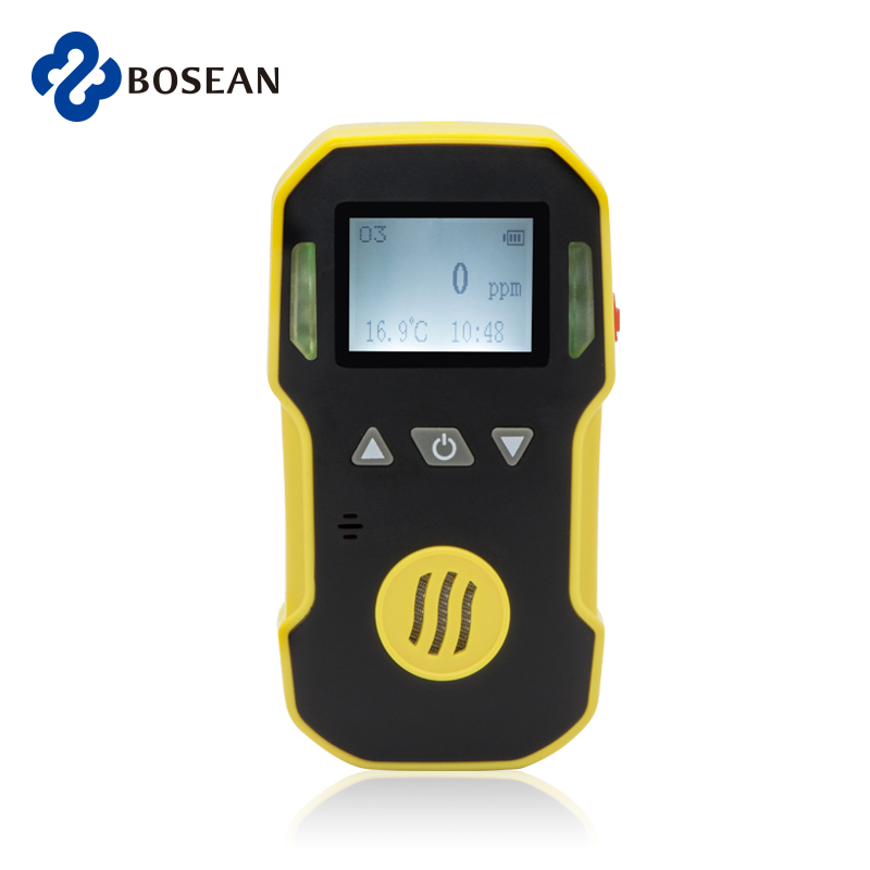 Portable Ozone Gas Detector O3 Alarm Detetcor ABS & Grip Rubber  Water, Dust & Explosion Proof  USB Rechargeable 0-20ppm O3