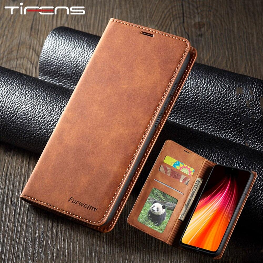Coque de téléphone à rabat magnétique de luxe en cuir, étui portefeuille pour Xiaomi Poco X3 M3 10T Lite Redmi 9 9T 9A 9C Note 10 9 S 8 7 Pro Max