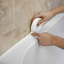 1 рулон, 3,2 м x 22 мм, уплотнительная лента для ванной, раковины, ванной, ПВХ, самоклеющаяся Водонепроницаемая Наклейка на стену для ванной, кухни