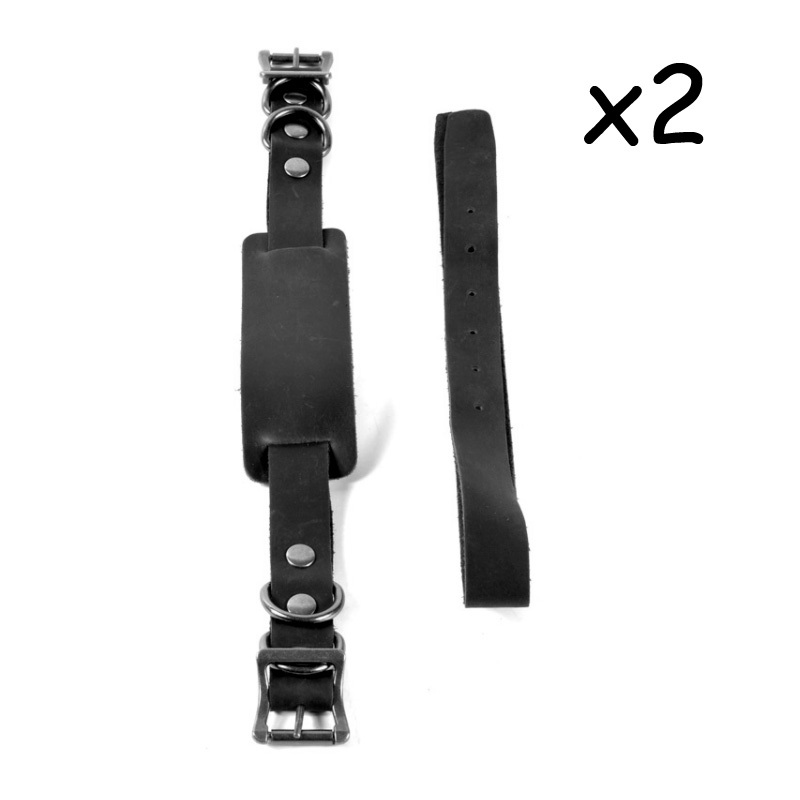 Retro motorcycle bandage side bag strapping belt bilateral locomotive strapping belt leather strap camel bag fixed belt